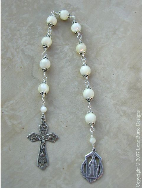 Mother of Pearl Single Pocket Rosary